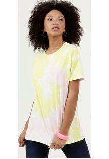 Blusa Feminina Estampa Tie Dye Manga Curta Marisa