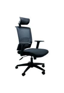 Cadeira Office Byartdesign Top Com Encosto Preto