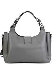 Bolsa Santa Lolla Handbag Riscada Feminina - Feminino-Cinza