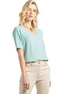 Blusa Mx Fashion Crepe Constance Verde