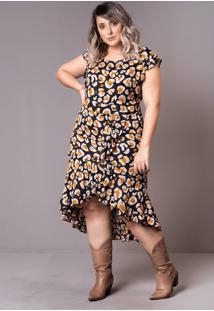 Vestido Mullet Onça Plus Size