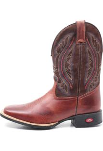 Bota Masculina Elite Country Joshua Fossil Marrom Cafe