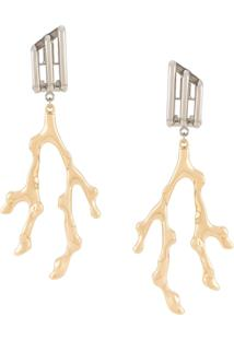 Chloé Antler Earrings - Dourado