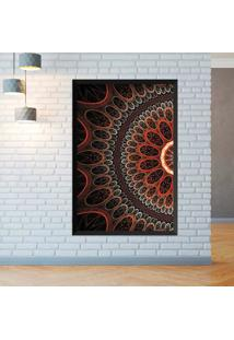 Quadro Love Decor Com Moldura Abstrato Circulos Preto Grande