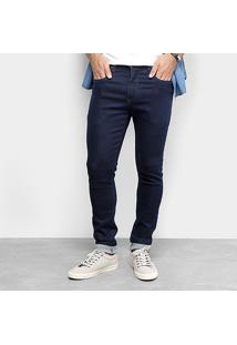 Calça Moletom Jeans Skinny Redley Blue Intenso Masculina - Masculino