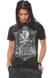 Camiseta John John Skull Grafite