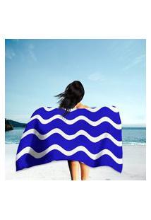 Toalha De Praia / Banho Ondulações Único
