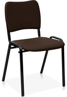 Cadeira Fixa Estofada Atena S/ Braã§Os La Marrom - Marrom - Dafiti