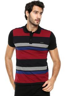 Camisa Polo Sommer Listras Preto