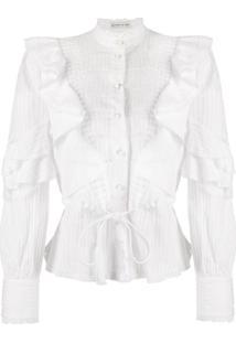 Etro Ruffled Design Blouse - Branco