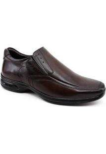 Sapato Masculino Jotape 3D Vision Couro - Masculino-Marrom