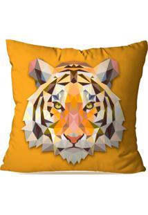 Capa De Almofada Avulsa Decorativa Tigre Geométrico