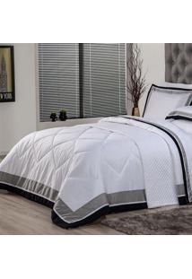 Edredom King Plumasul Soft Comfort 280X260Cm Microfibra Branco