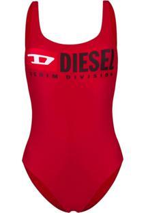 Diesel Maiô Com Logo - Vermelho