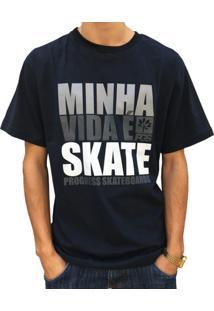 Camiseta Pgs Minha Vida É Skate - Masculino