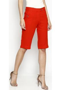 Bermuda Slim Com Bolso - Vermelhanovad