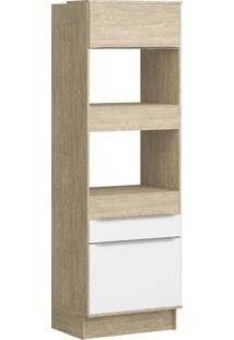 Paneleiro Torre Quente Decibal Slim Cs604R Acácia/Nature/Branco