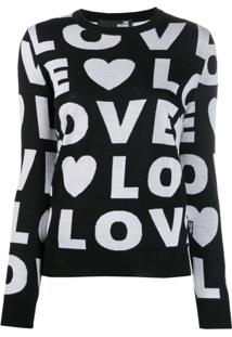 Love Moschino Suéter Love - Preto