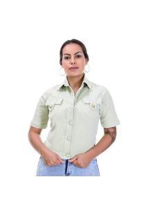 Jaqueta Sarja Feminina Verde - 265775 - Verde - Sawary