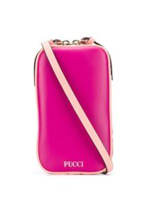 Emilio Pucci Bolsa Transversal Com Estampa De Logo - Rosa