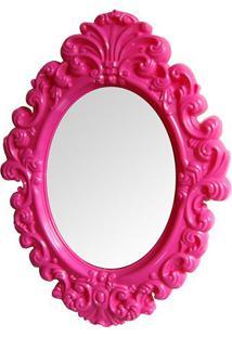 Espelho Big Princess- Espelhado & Pink- 68X50X3Cm