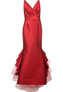 Sachin & Babi Vestido De Festa Chesterton - Vermelho