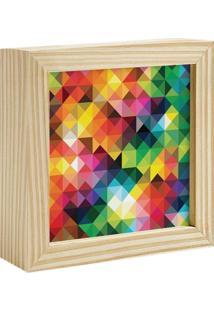 Quadro Decorativo Decohouse Moldura Art Multicolorido