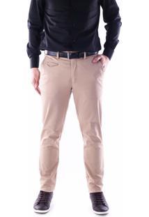 Calça 3030 Sarja Areia Traymon Modelagem Skinny