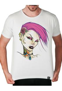 Camiseta Garota Punk Gótica Artseries Masculina - Masculino