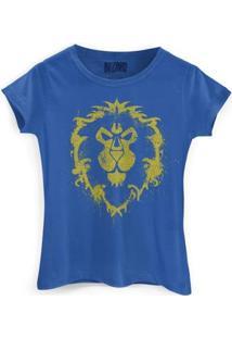 Camiseta Bandup World Of Warcraft Aliança - Feminino-Azul