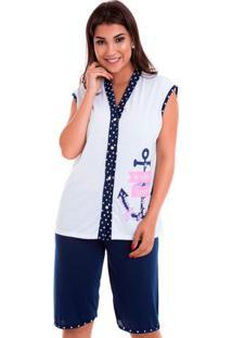 Pijama Bermudoll Regata Feminino Adulto Luna Cuore
