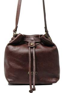 Bolsa Em Couro Transversal Recuo Fashion Bag Chocolate