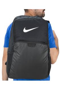 Mochila Nike Brasilia Xl 9.0 - 30 Litros - Preto/Branco