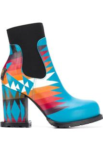 Sacai Ankle Boot Plataforma - Azul