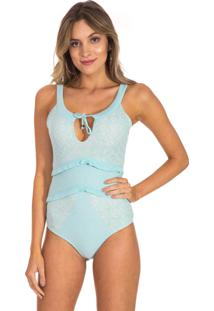Body Beautifull Hit Tricot Babados Menta