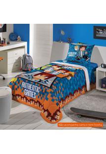 Edredom Infantil Authentic Games (150X200) Algodão Azul