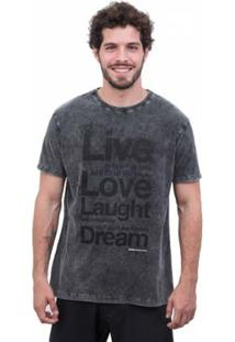 Camiseta Limits Marmorizada Live Love Masculina - Masculino-Preto