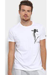 Camiseta Acostamento Flor Masculina - Masculino