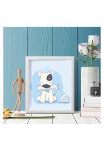 Quadro Decorativo Infantil Dog Baby Branco - 30X40Cm