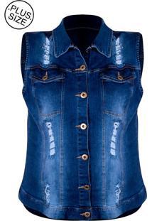 Colete Linda D+ Jeans Plus Size (E494)