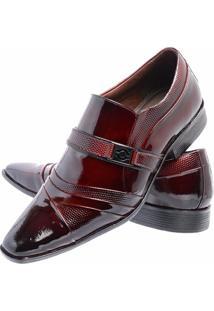 Sapato Social Gofer Couro Verniz - Masculino