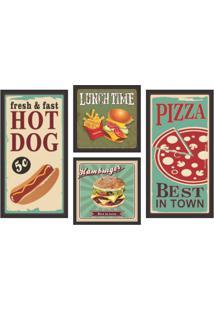 Conjunto Com 4 Quadros Decorativos Got Food Colorido