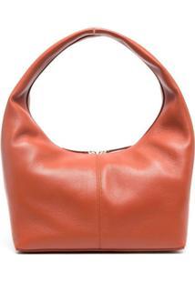 Frenzlauer Panier Leather Shoulder Bag - Laranja