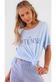 Camiseta Colcci Intense Azul - Azul - Feminino - Viscose - Dafiti