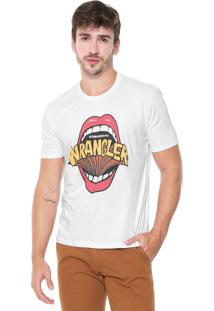 Camiseta Wrangler Estampada Branca