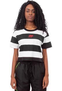 Camiseta Kings Sneakers Cropped Kings Premium Stripes Preto Feminino - Kanui