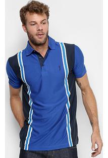 Camisa Polo Aleatory Malha Vertical Masculina - Masculino