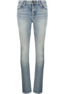 Saint Laurent Calça Jeans Slim - Azul