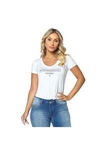 T-Shirt Daniela Cristina Gola V Profundo 02 602Dc10302 Branco
