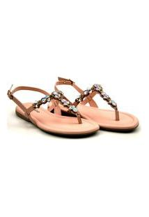 Sandalia Pink Cats Rasteira - V1522